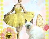 Ballerina and Butterfly Cat Etsy Shop Banner and Avatar Set