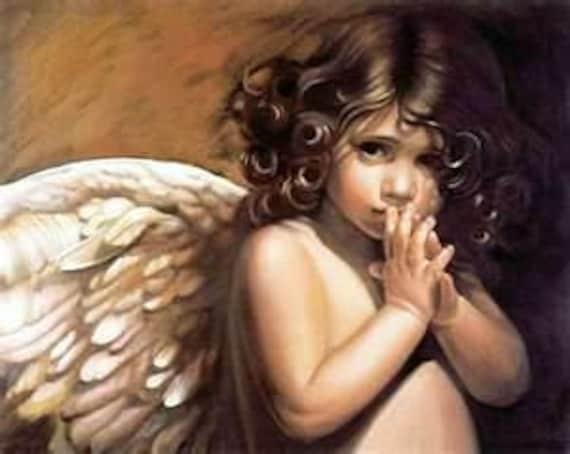Angel Child Cross Stitch Pattern PDF