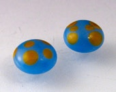 Glass Cabochon earring set -- Spot my Dots