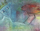 Reserved  SAINT and the ReD BirD Original PAinting by The Hillbilly Artist