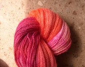 Hand Painted Coral Sea PIZZAZ Silk and Merino Lace Yarn\/ Reg 18.00 skein