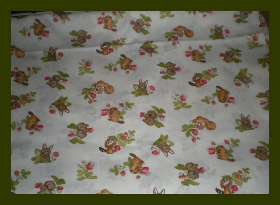 Baby forest animals cute print fabric for Cute baby fabric