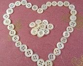 44 Antique Petitie Mother Of Pearl Buttons