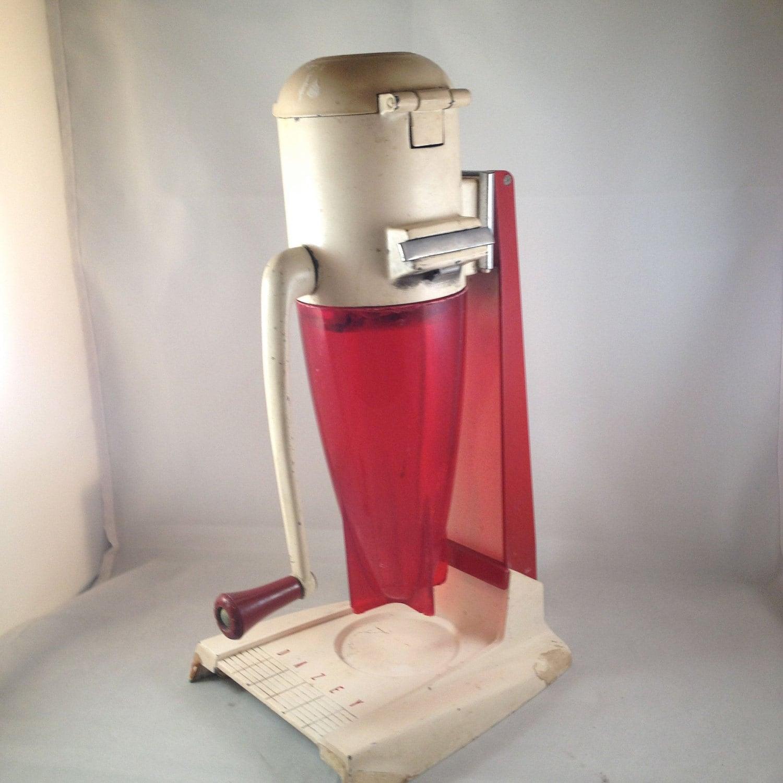 Vintage Atomic Red Rocket Dazey Ice Crusher For Your Retro Bar