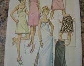 Vintage 70s Simplicity 9115 Womens Lingerie Slip Pattern sz 14 V 36 UNCUT