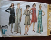 Vintage 70s Simplicity 9141 Misses Sheath Style Dress in Two Lengths sz 20 B42