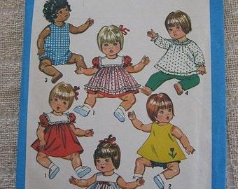 Simplicty 9508 Dolls Wardrobe pattern size large 18 - 20 inch Doll UNCUT