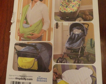 Simplicity 3712 Baby Accessories Pattern Sling, Stroller or Car Seat Bunting, Travel Changing Pad UNCUT