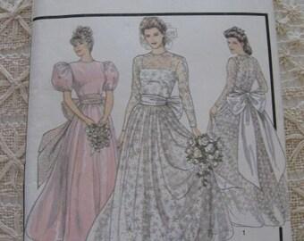 Vintage 80s  Wedding Dress Pattern Style 1503 sz 12 B 34 UNCUT