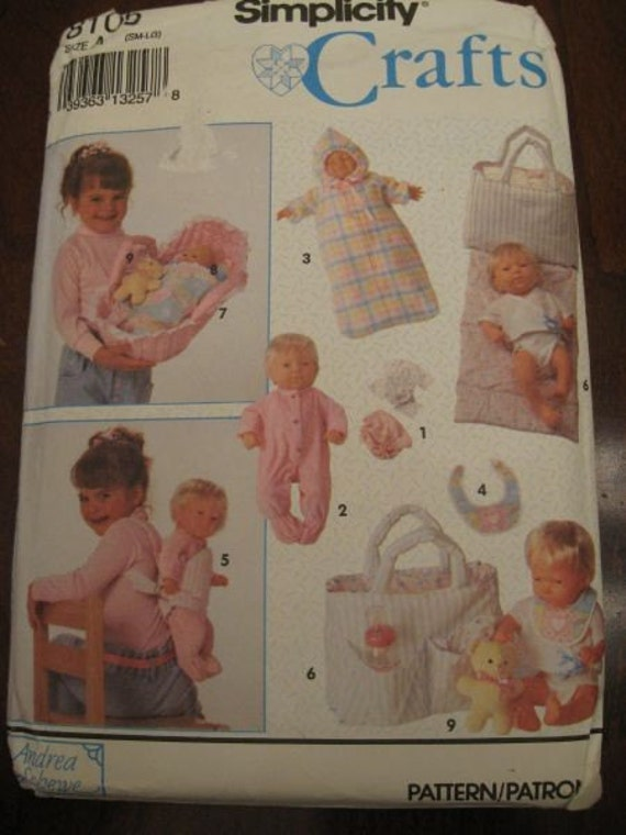 Baby Doll Clothes Accessories Bassinet Pattern Simplicity
