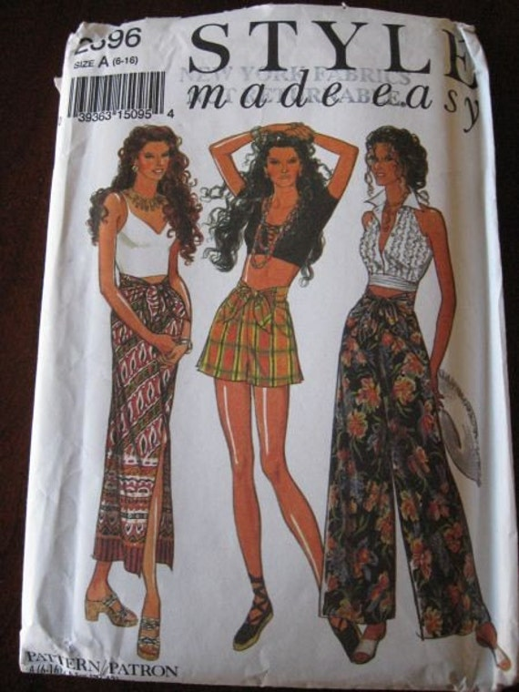 Style made Easy Misses Seperates High Waist Skirt, Shorts, Pants Pattern sz 6-16 UNCUT