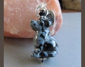 Cornerstoregoddess Snowflake Obsidian Lab Labrador Retriever Dog Charm