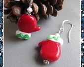 Cornerstoregoddess Christmas Stocking Stuffer Christmas Mitten Earrings