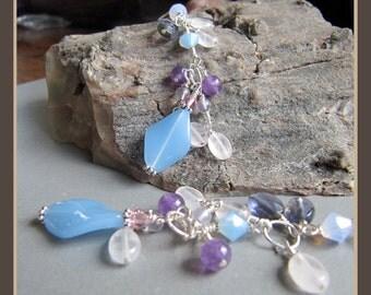 Midsummer Night's Dream Gemstone Earrings by Cornerstoregoddess