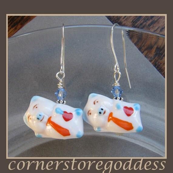 Cornerstoregoddess Two Gentlemen Pig Piggie Earrings