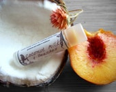Coconut Milk & Peaches Lip Balm 0.15 oz - Made with Rose Hip Seed Oil, Evening Primrose oil, Beeswax, Coconut Milk