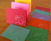 ETSY STATIONERY - gocco printed by hand, Limited edition