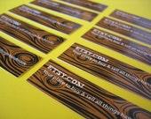 Woodgrain ETSY Stickers (Set of 10)