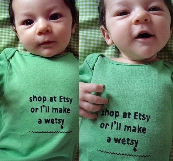 Shop at Etsy or I.ll Make a wetsy Sloganathon Baby Romper