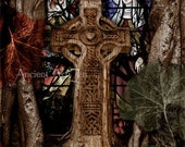 Celtic Cross Art - Requiem For A Tree 12x18 gothic art print
