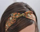 topknot headband - favorite flowers