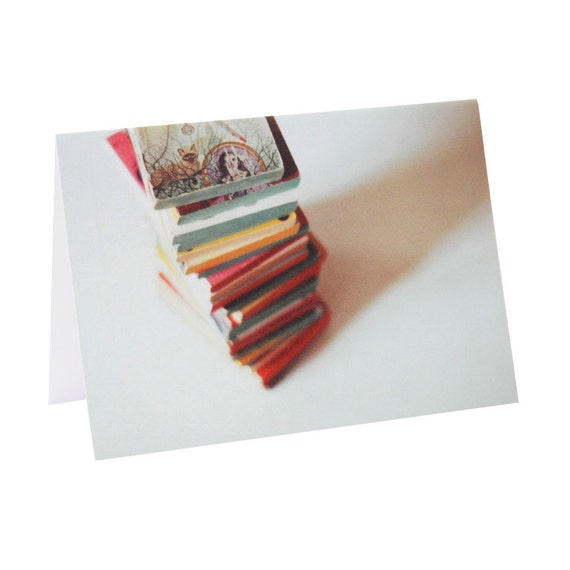 Book Stack - Analog Photography - Greeting Card
