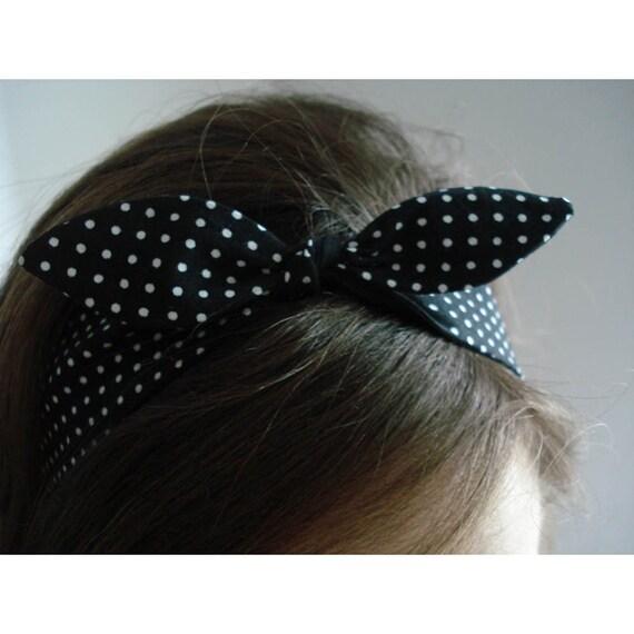 topknot headband - licorice mist