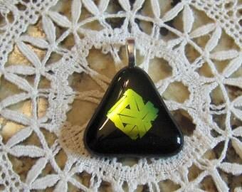 Black Triangle Fused Dichroic Pendant