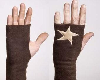 Fleece Applique Handwarmers with Stars - Large