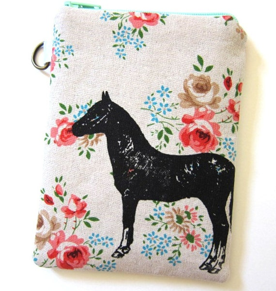 iPhone Case Padded Horse on Floral Linen