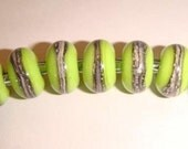 Artistic Offerings 7 Silvered Lime Green Beads SRA
