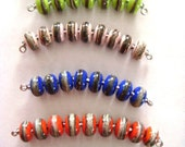 6 Sets of Silvered Lampwork Beads SRA