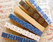Altered Clothespins, Multi-Purpose Clips, Blueberry Chocolate
