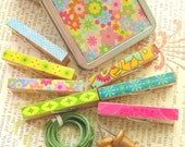 Mini Clip and Tin Set - Passion Pomegranate - Set of 7 Multi-Purpose Clips With Matching Tin