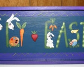 Hand Painted Easter Holiday Wall Decor Adorable