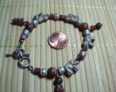 Elephant (Czech glass), Leopard Skin Jasper bracelet