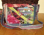 Funky Fabric Collage Purse