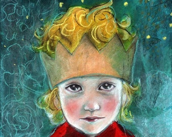 ACEO art reproduction by Maria Pace-Wynters- The Little Prince