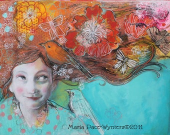Hope And Desires- Fine Art Reproducion Block by Maria Pace-Wynters
