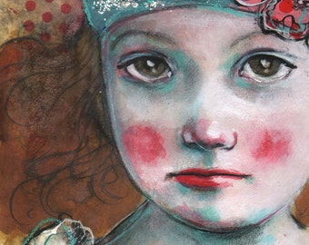 Seriously Five-ACEO  Open edition reproduction by Maria Pace-Wynters