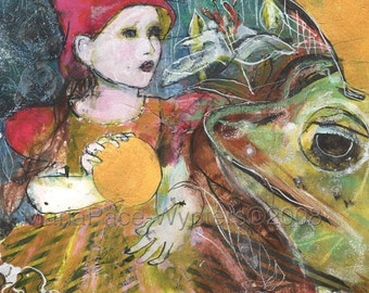 Limited Edition ACEO art reproduction - Frog Prince9/50