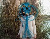 Macrame Owl Necklace - Robin Egg Blue