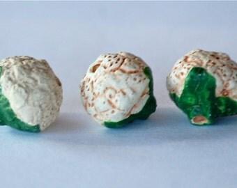 SALE  8x10mm Cauliflower Peruvian Clay Beads (3) CLA16