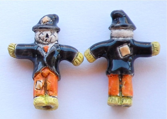 Halloween Scarecrow Peruvian Clay Beads (2)