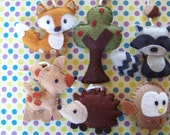 "Baby Crib Mobile - Baby Mobile - Nursery Forest Crib Mobile -""Woodland Wonders (You Can Pick Your Colors)"
