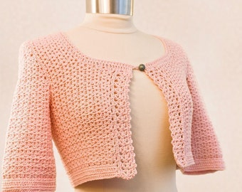 Crochet Pattern--Bolero for sizes s-xl