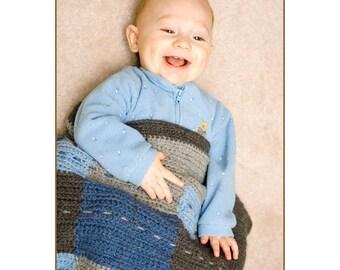 Crochet Pattern--Block Blanket