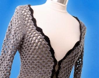 Crochet Pattern--Openwork Sweater