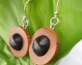 Maridos Earrings - organic palm and patcon seed wood earrings