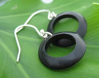 Coyol Circulos Ecofriendly Earrings - organic coyol palm tree seed earrings